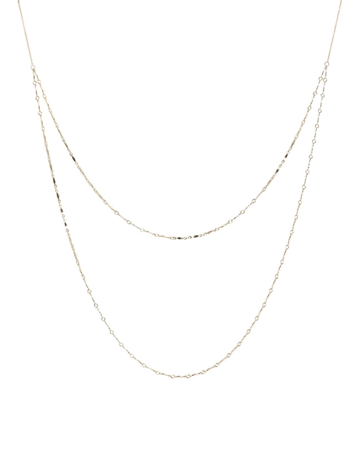 Double Small Chain Necklace