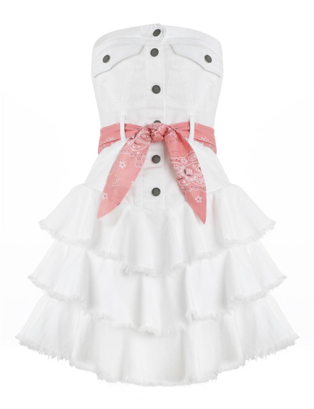 Heathers Denim Ruffle Dress