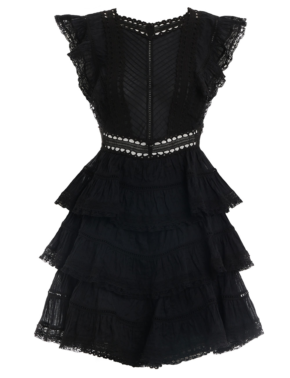 Juniper Pintuck Frill Dress