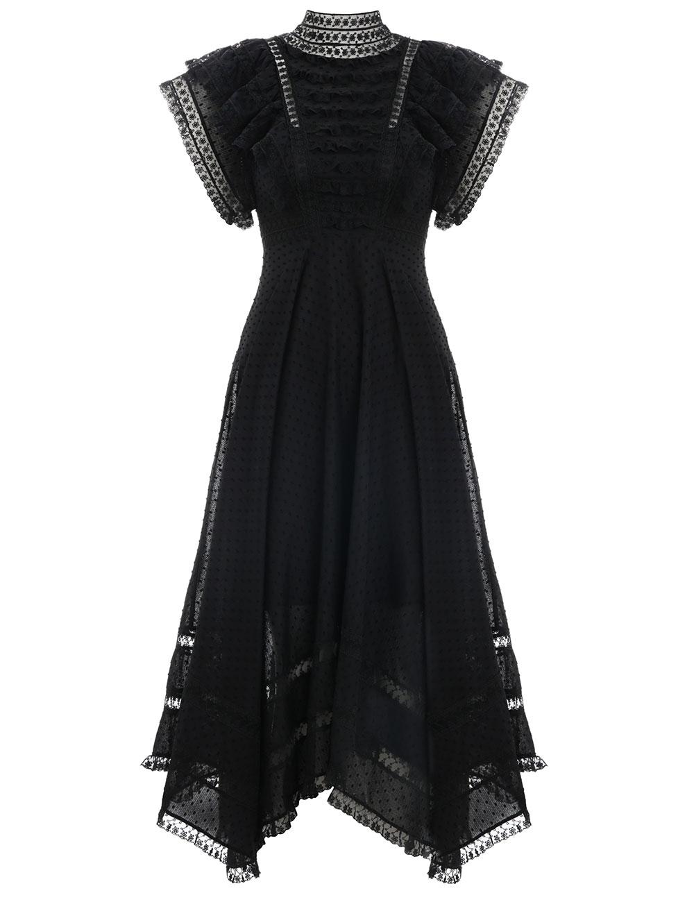Juno Pintuck Cascade Dress