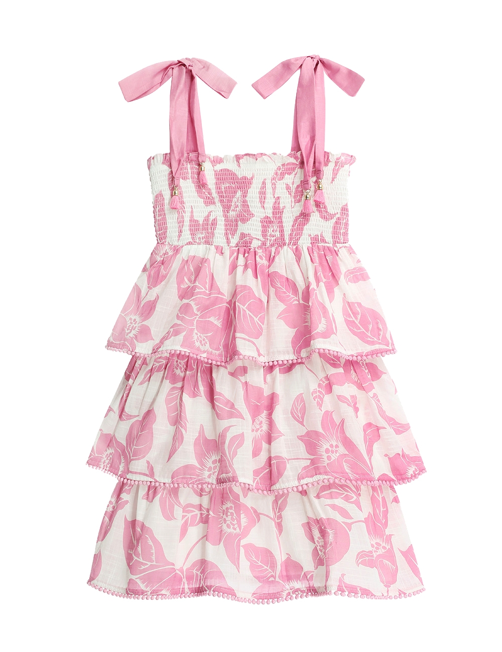 Bells Shirred Tiered Dress