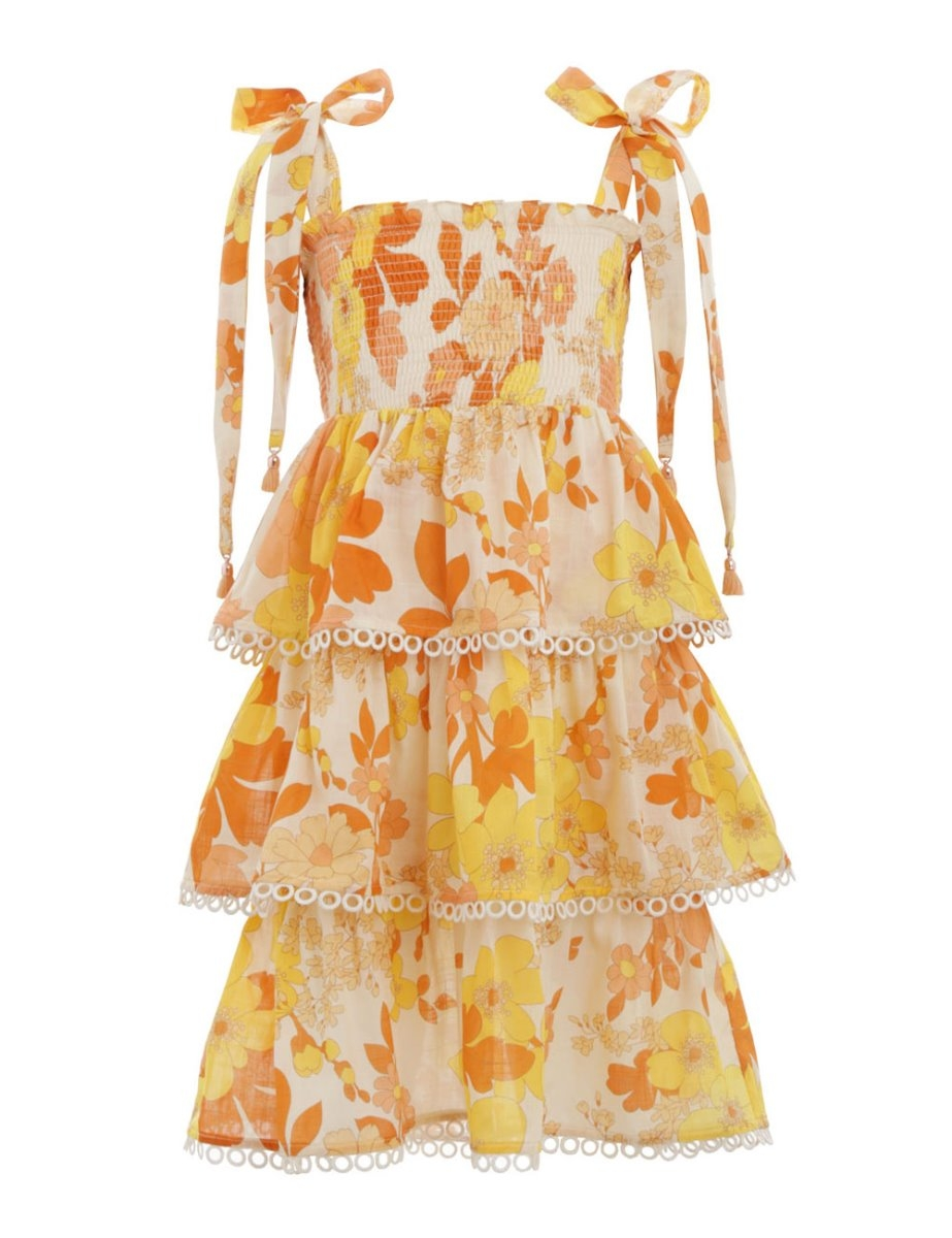 Primrose Shirred Tiered Dress