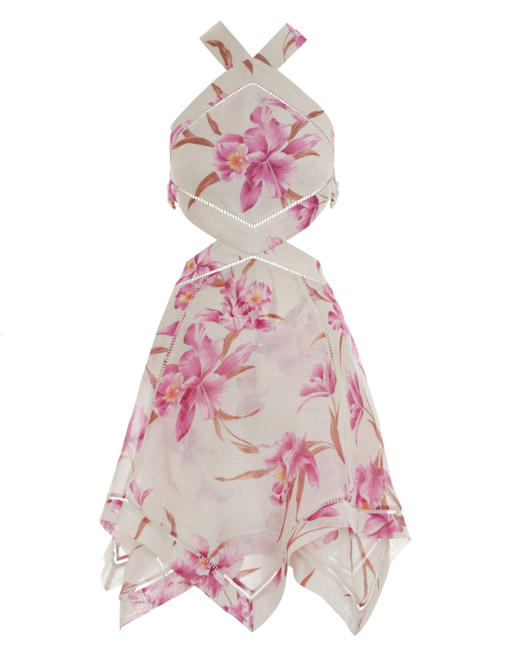 Corsage Halter Mini Dress