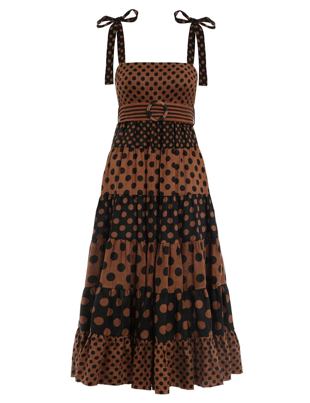 Juno Panelled Tie Dress