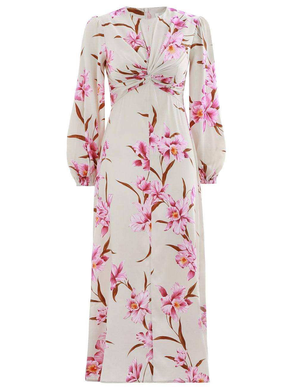 9a77b336f010 Corsage Knot Midi Dress