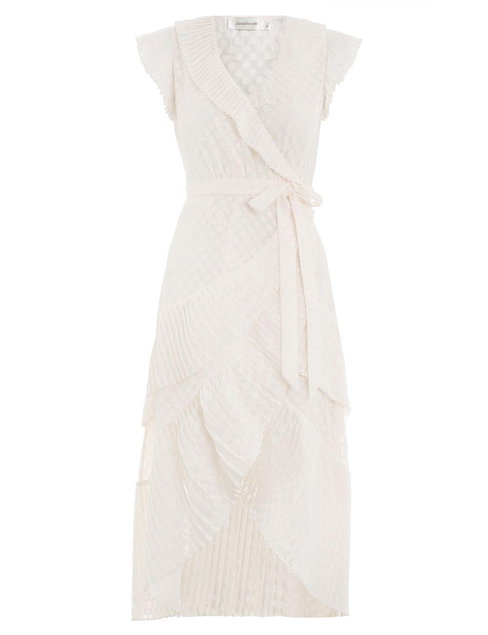 Plisse Wrap Dress