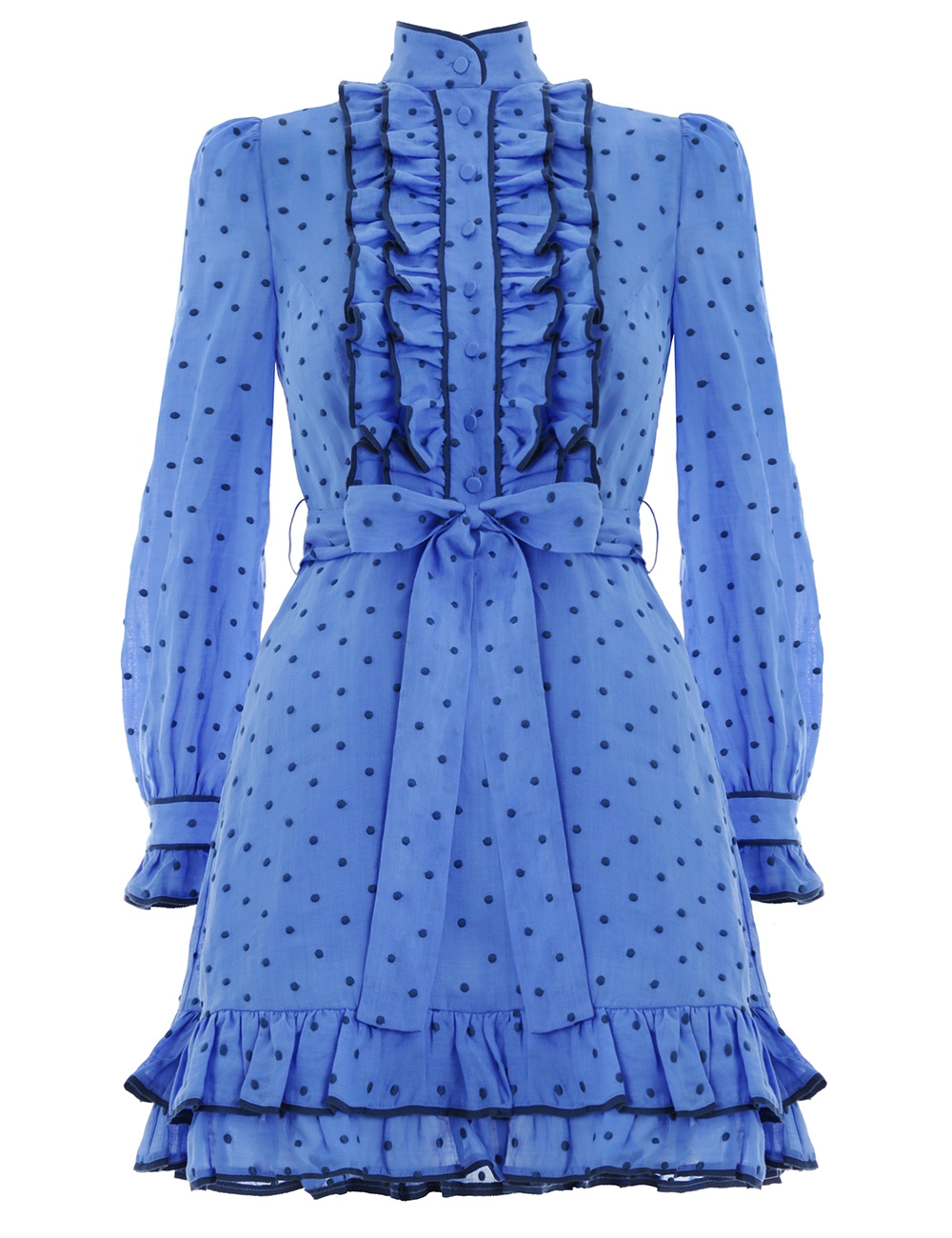 Moncur Ruffle Shirt Dress