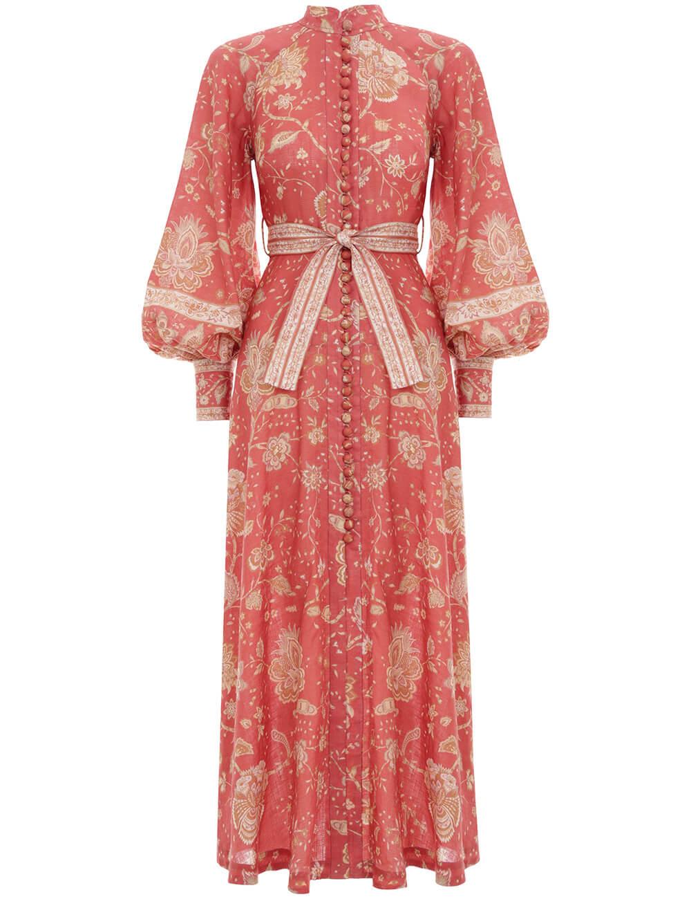 Veneto Border Long Dress
