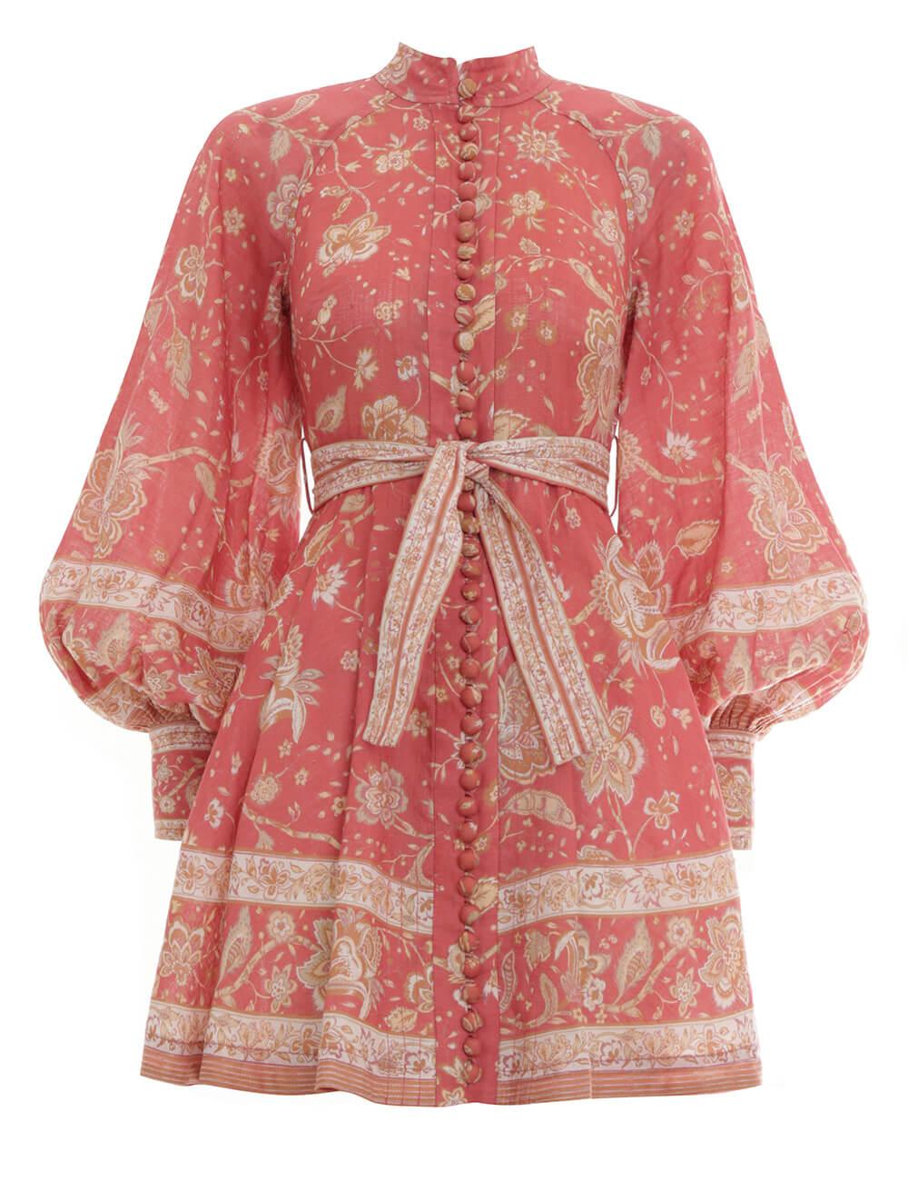 Veneto Border Short Dress