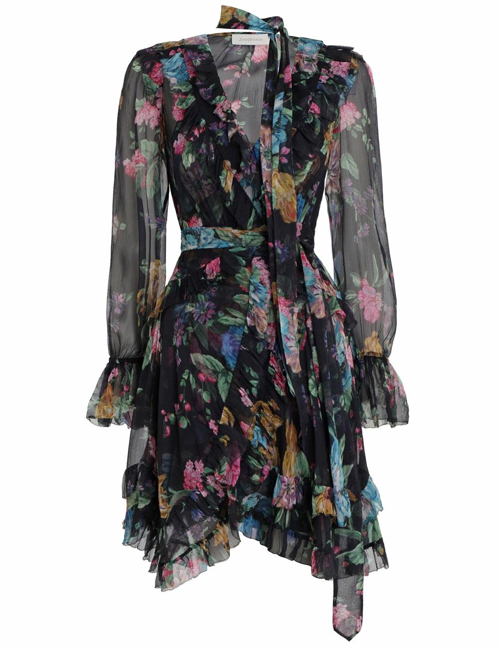 Ninety-Six Frill Wrap Dress