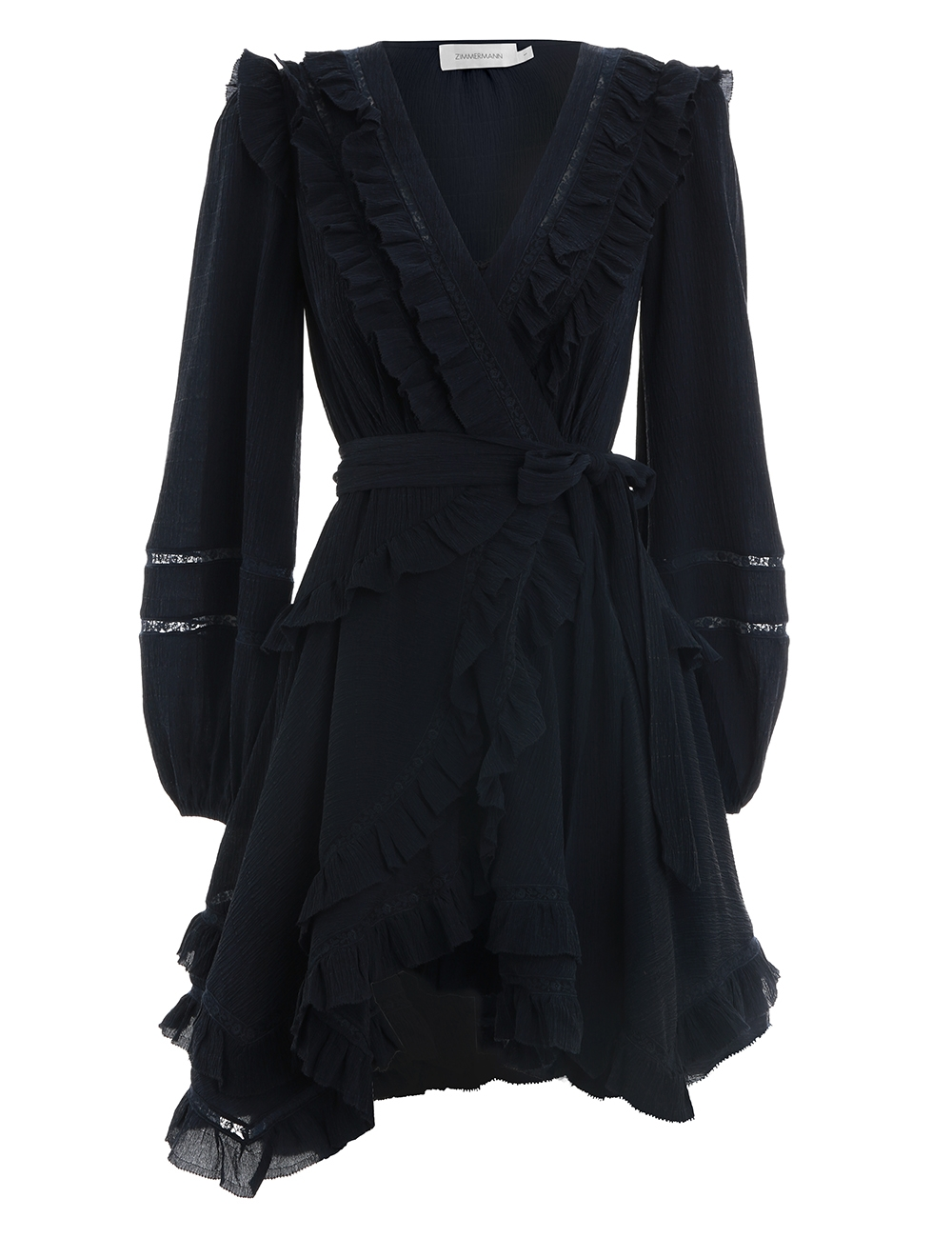 Moncur Frill Wrap Short Dress