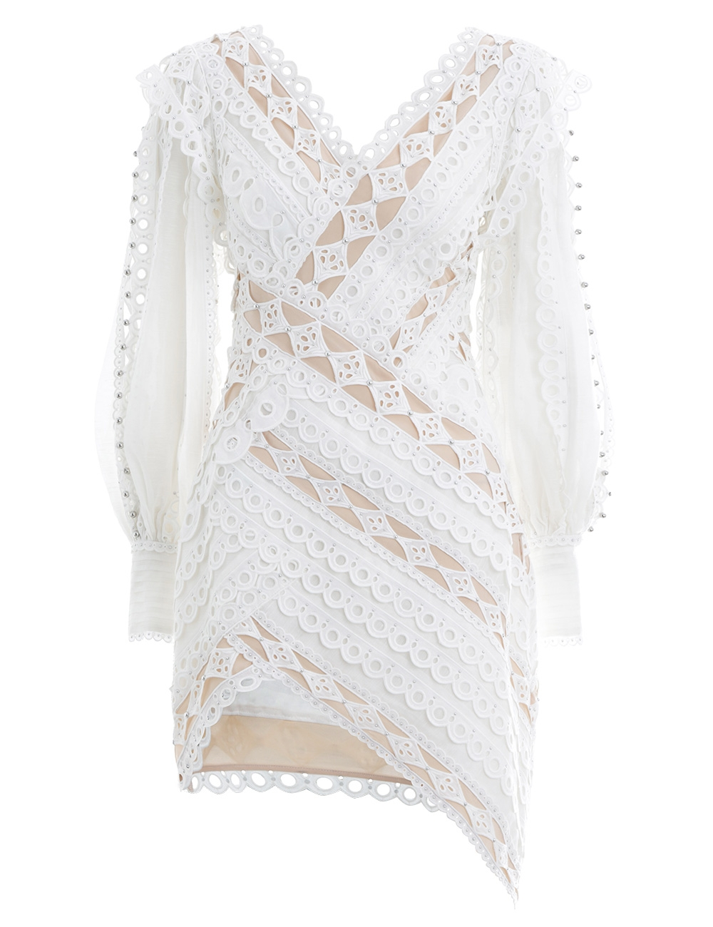 d18fb9ddcd8f Moncur Studded Mini Dress