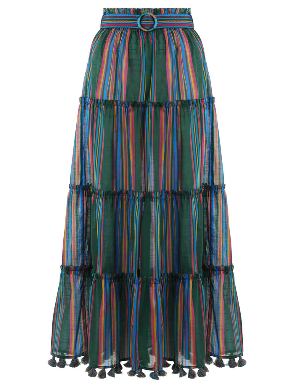Allia Stripe Linear Skirt