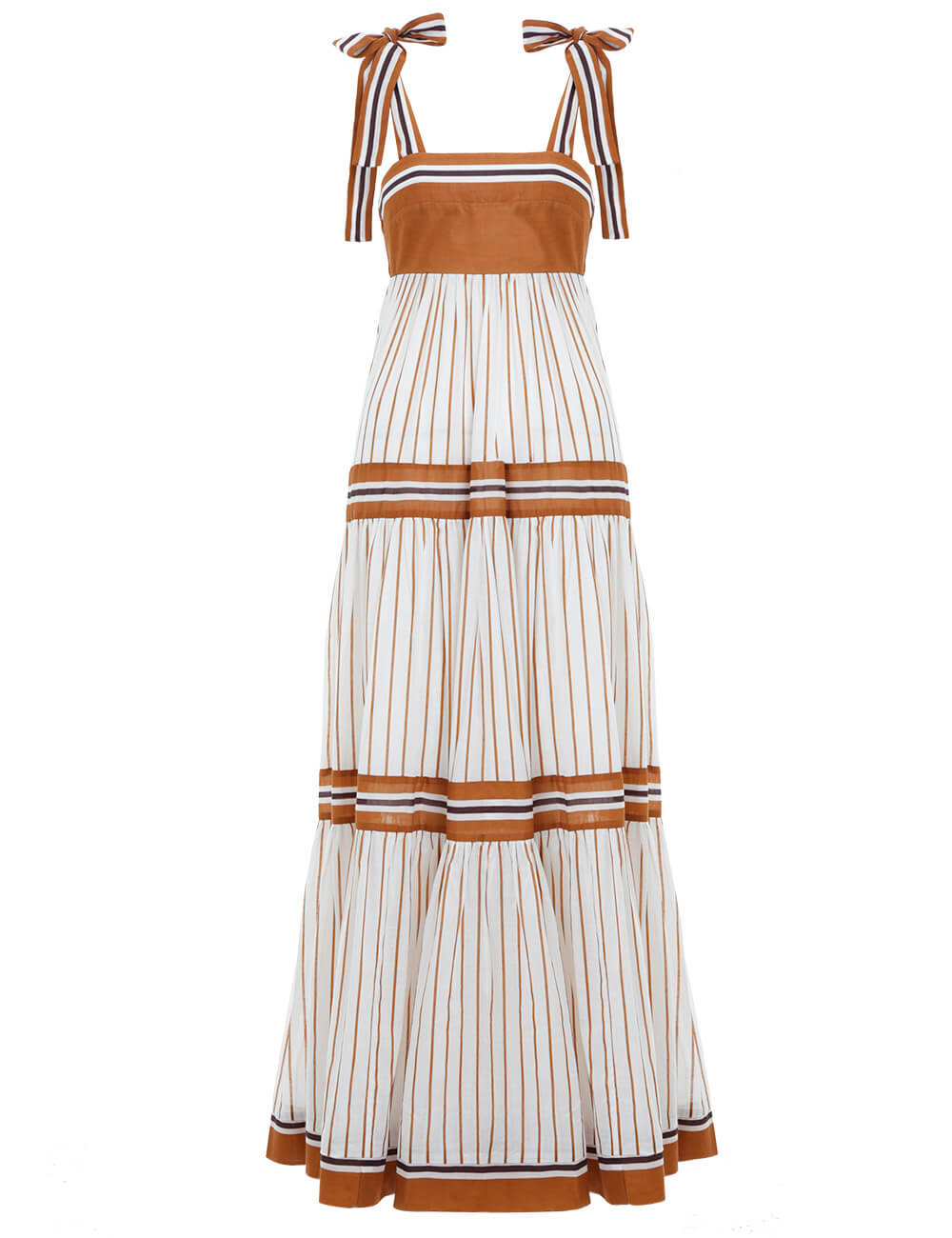Veneto Tiered Stripe Tie Dress