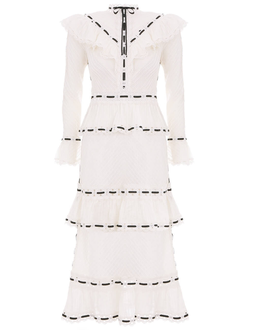 Honour Pintuck Panelled Dress