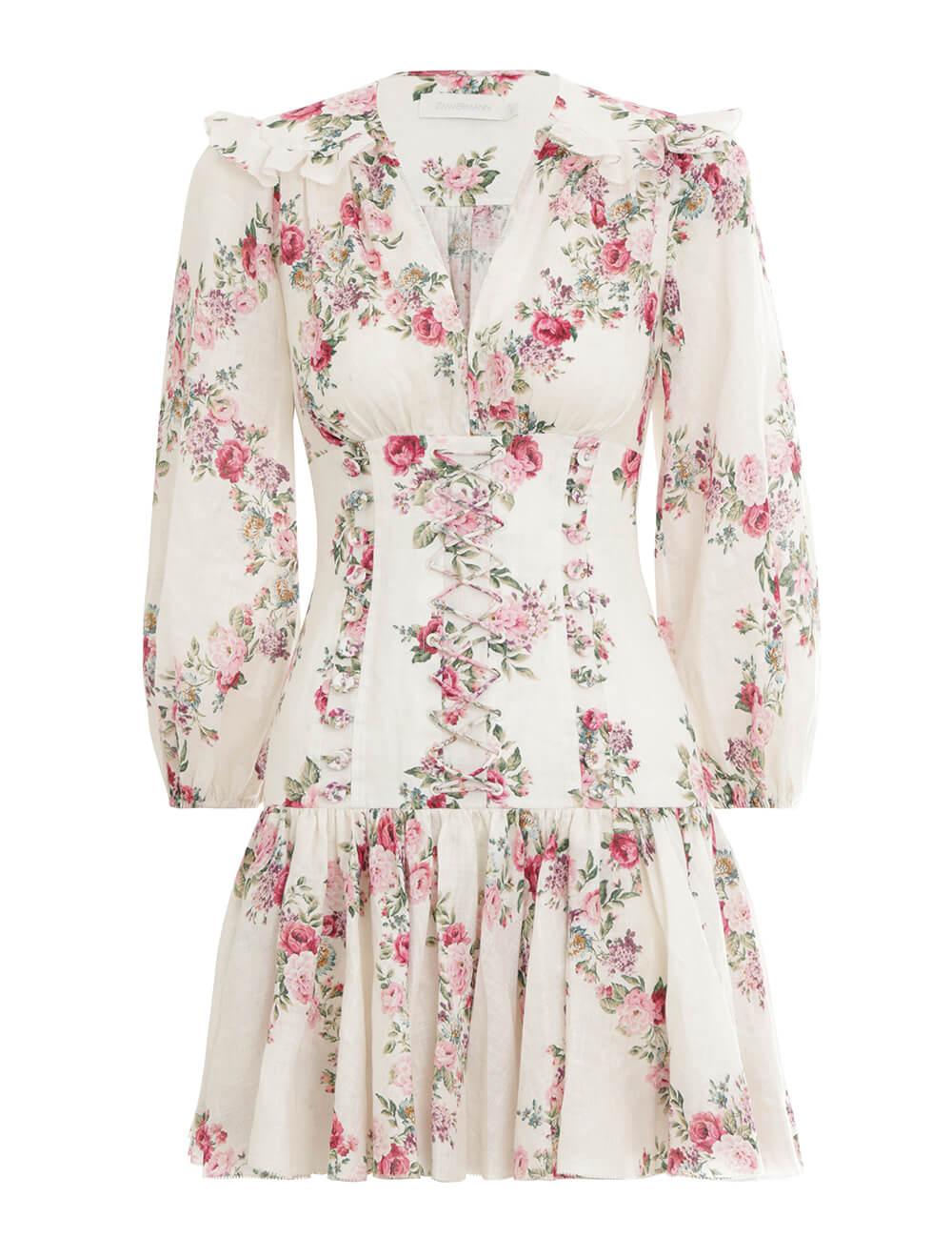 Honour Corset Printed Dress