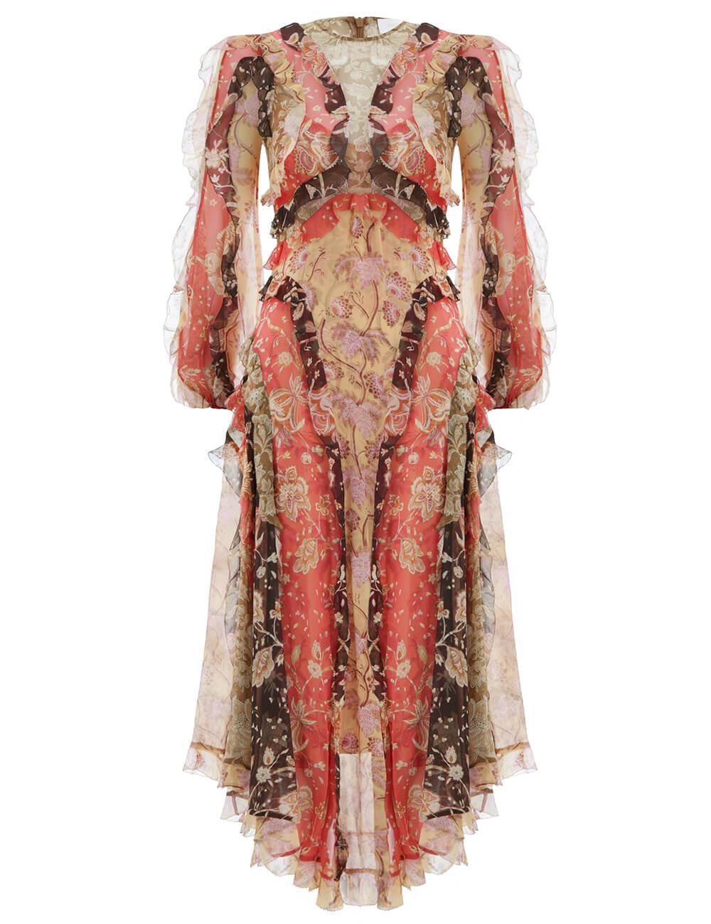Veneto Flounce Long Dress