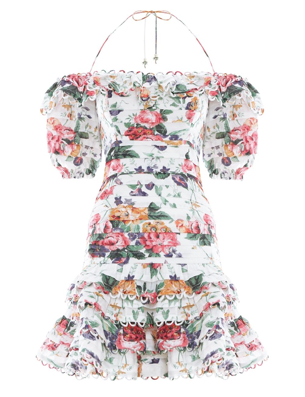 Allia Pintuck Short Dress