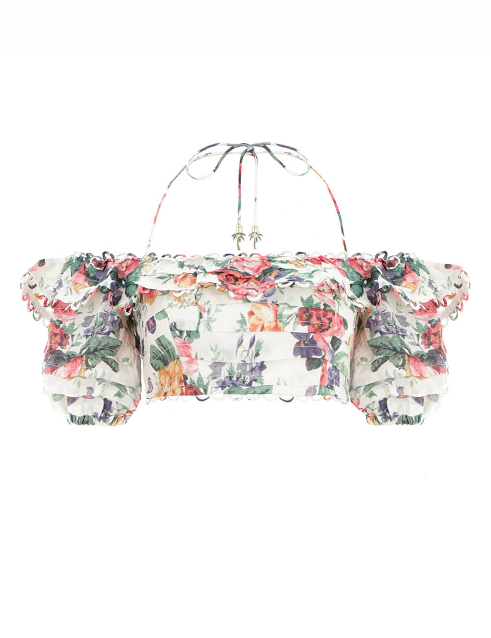 Allia Pintuck Off Shoulder Top