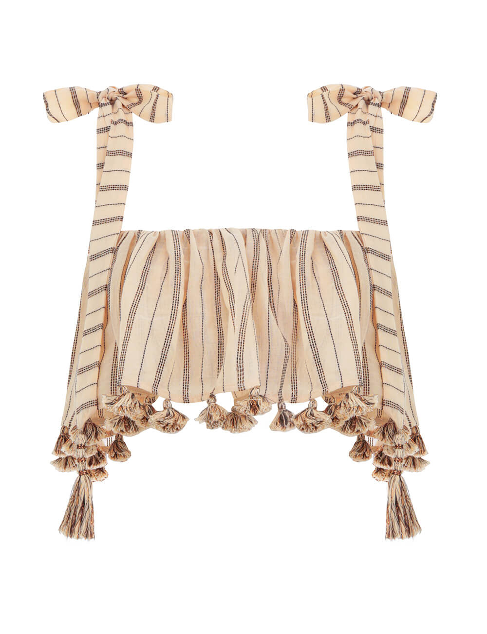 Suraya Bronze Stripe Tie Top