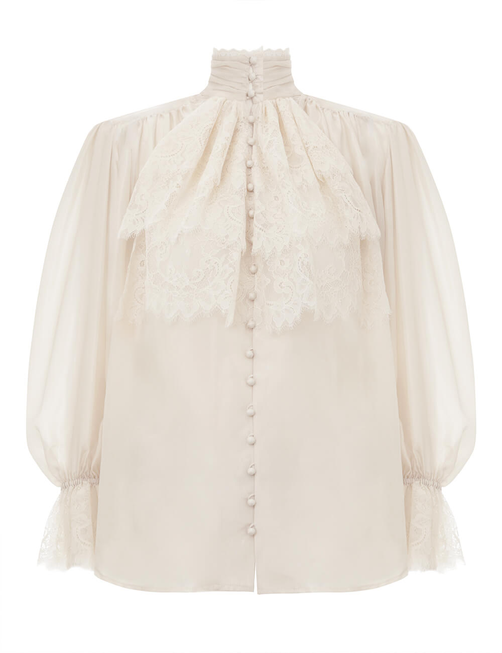 Verity Lace High Neck Shirt