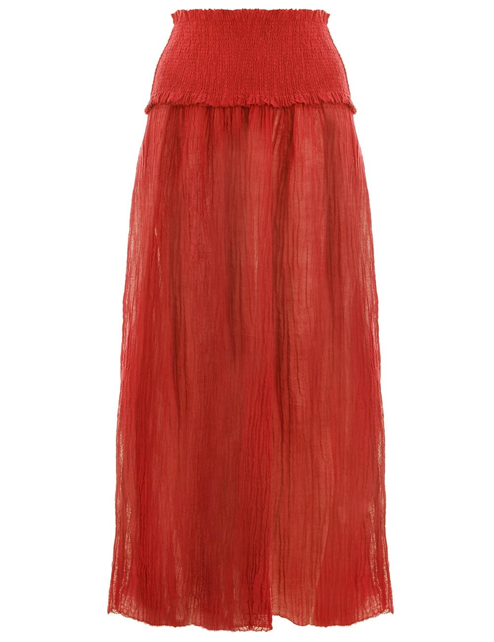 Veneto Shirred Waist Skirt