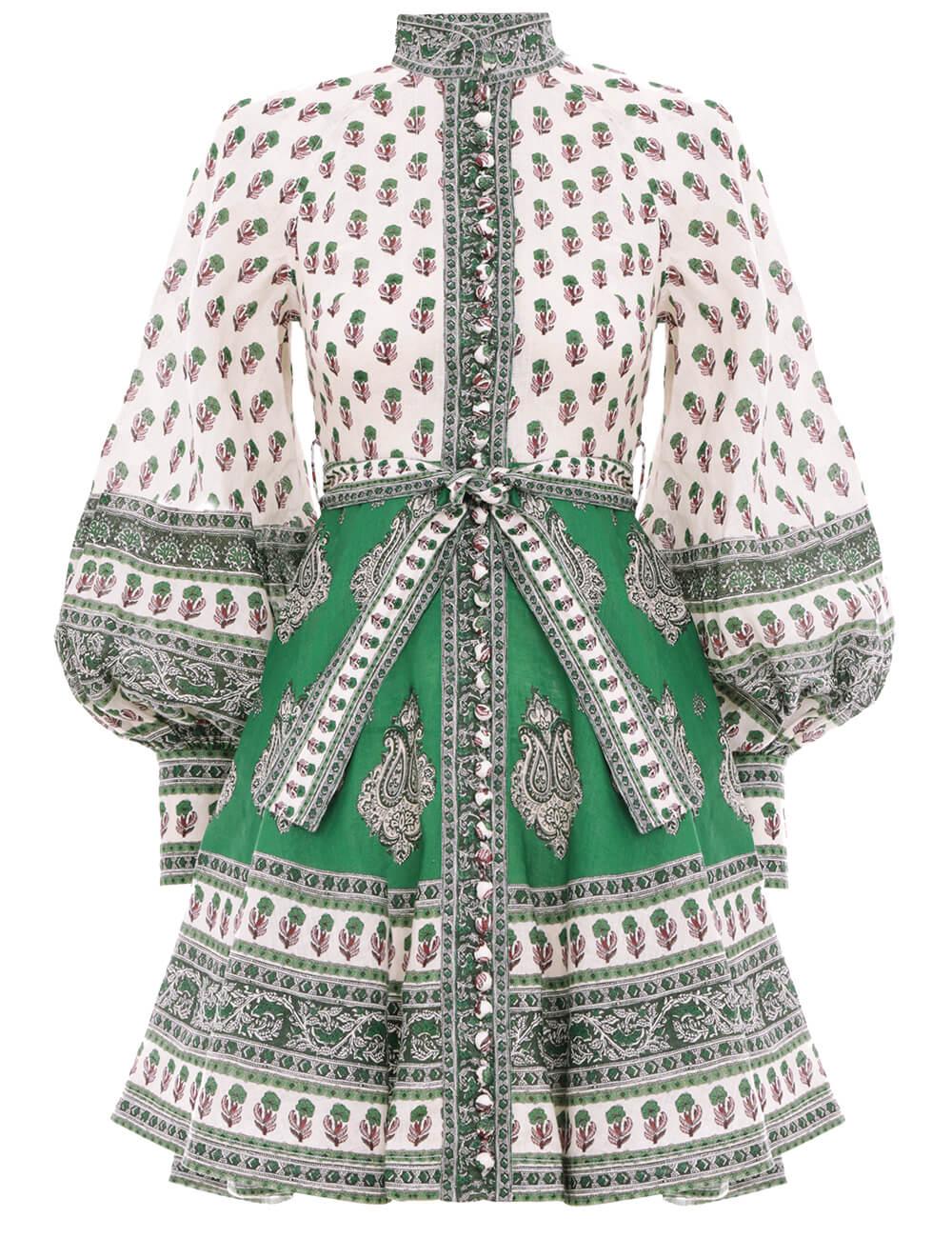 Amari Emerald Buttoned Dress