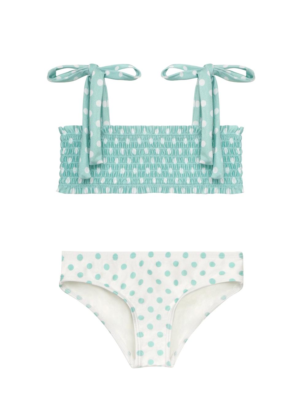 Kirra Shirred Bandeau Bikini