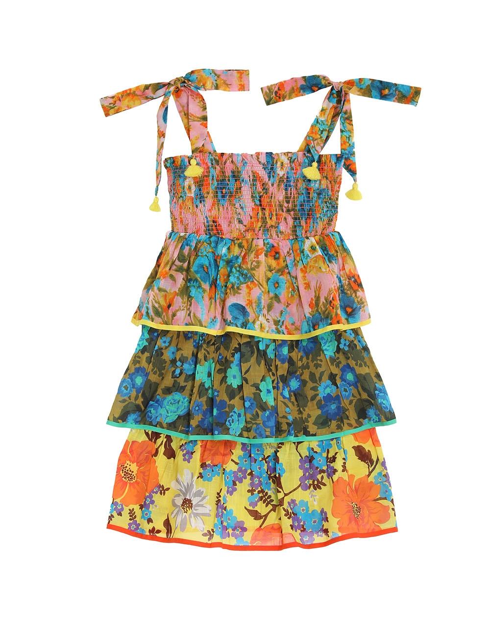 Estelle Shirred Tiered Dress