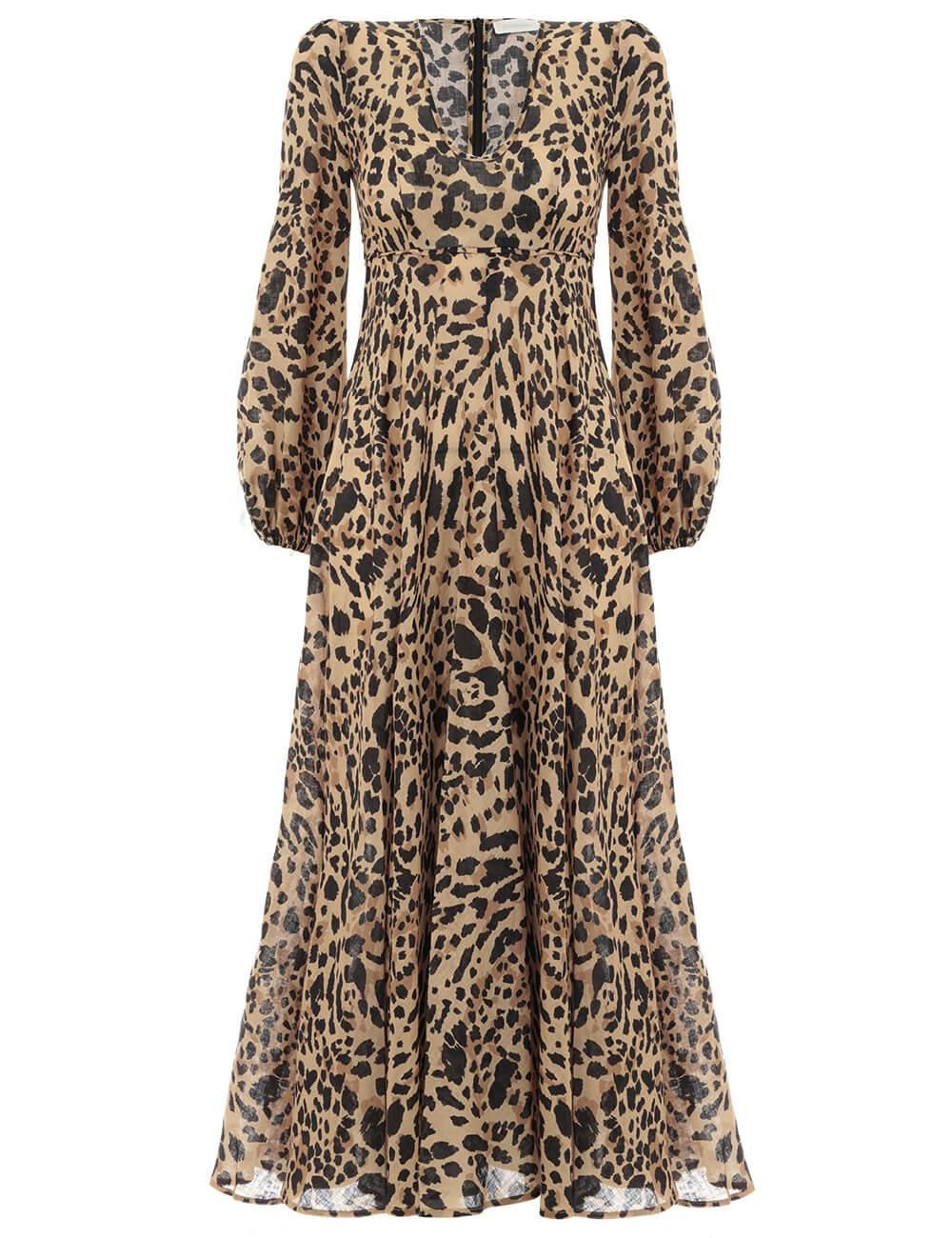 Veneto Plunge Long Dress