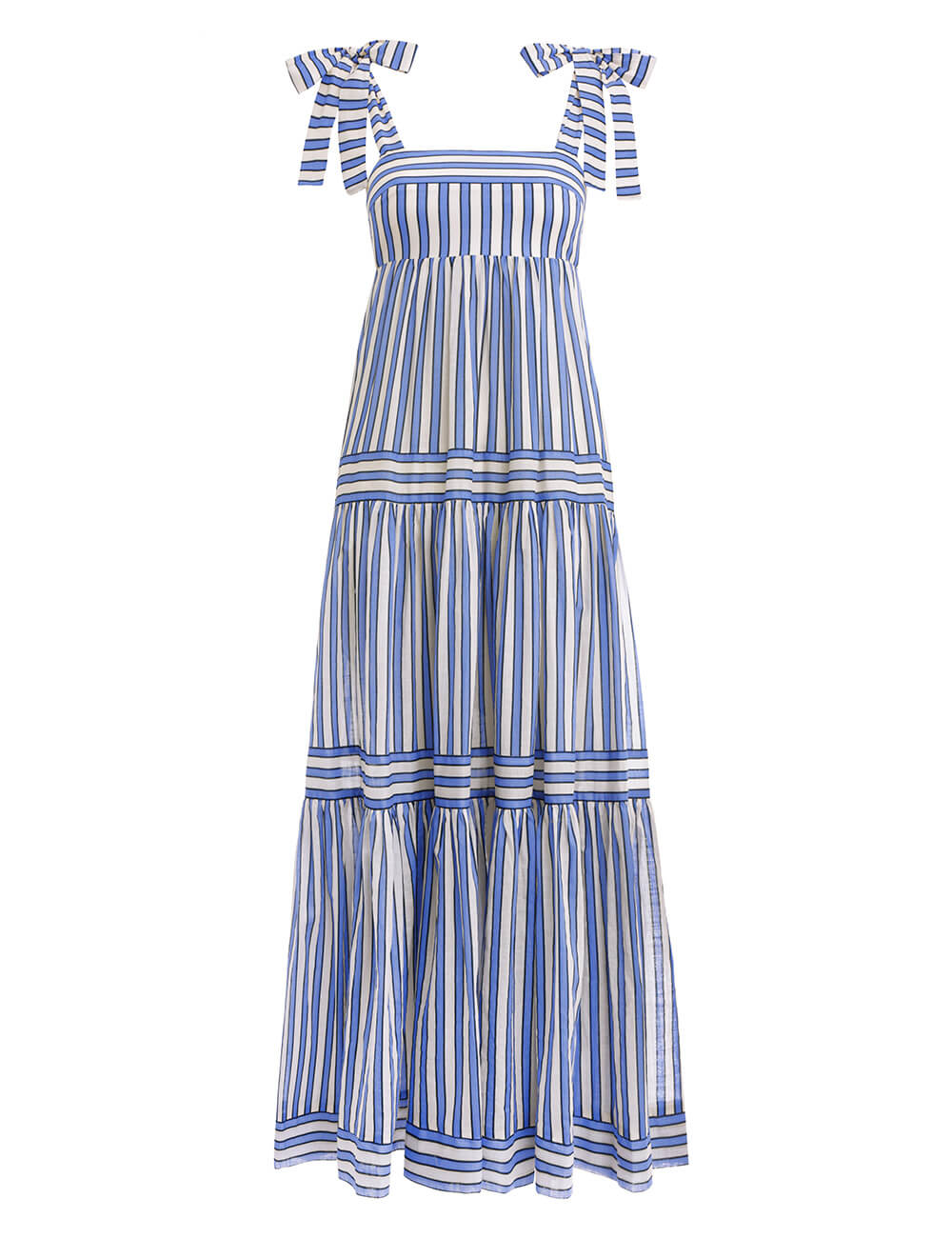 Verity Stripe Tiered Tie Dress