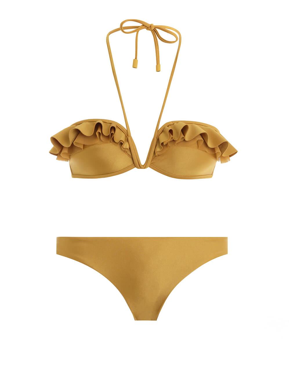 Suraya Curved Frill Bikini