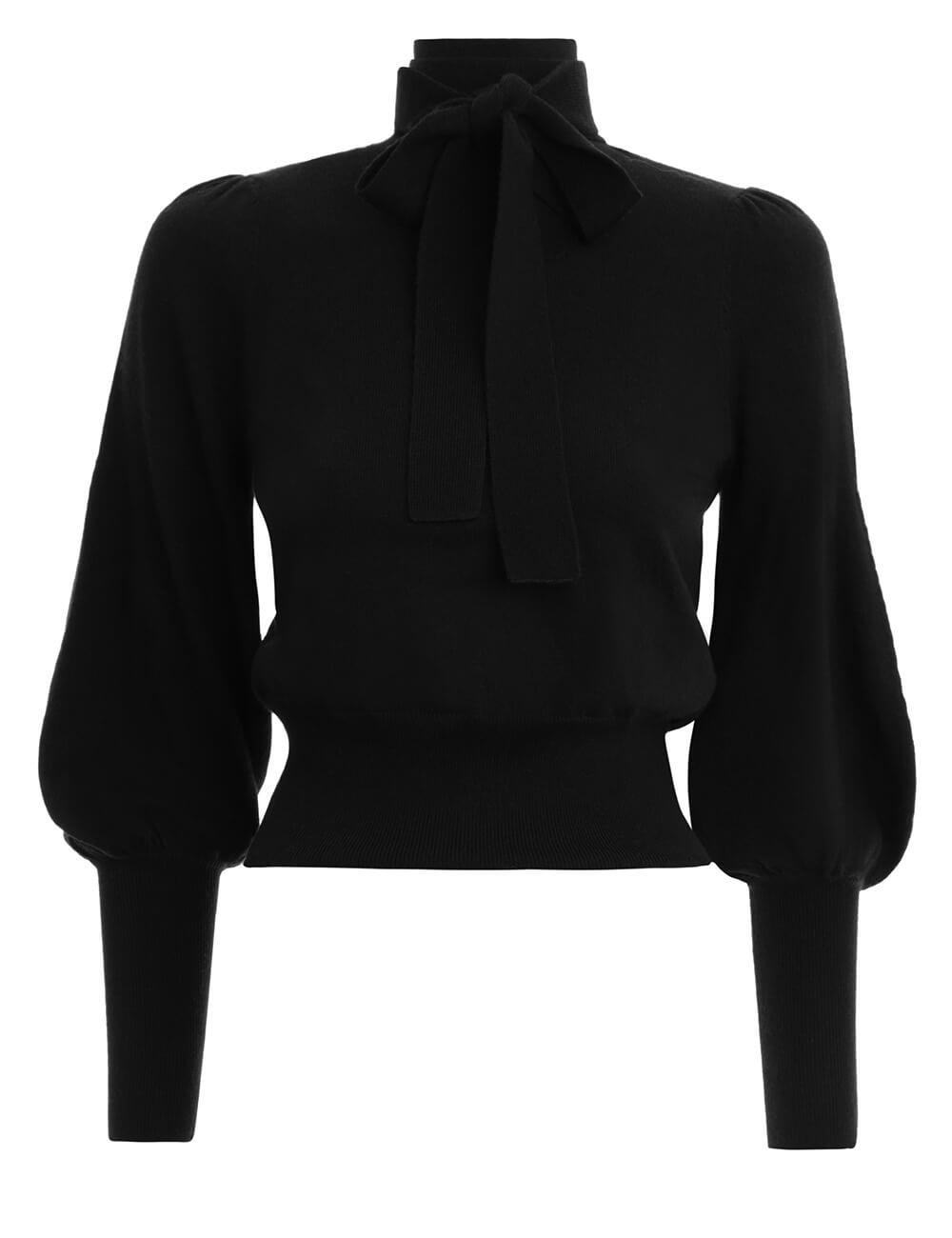 Espionage Neck Tie Sweater