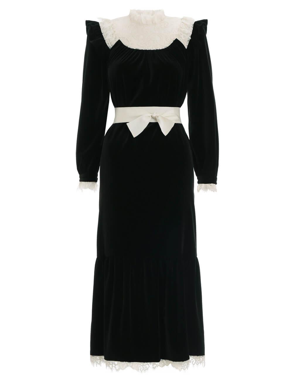 Resistance Velvet Lace Dress