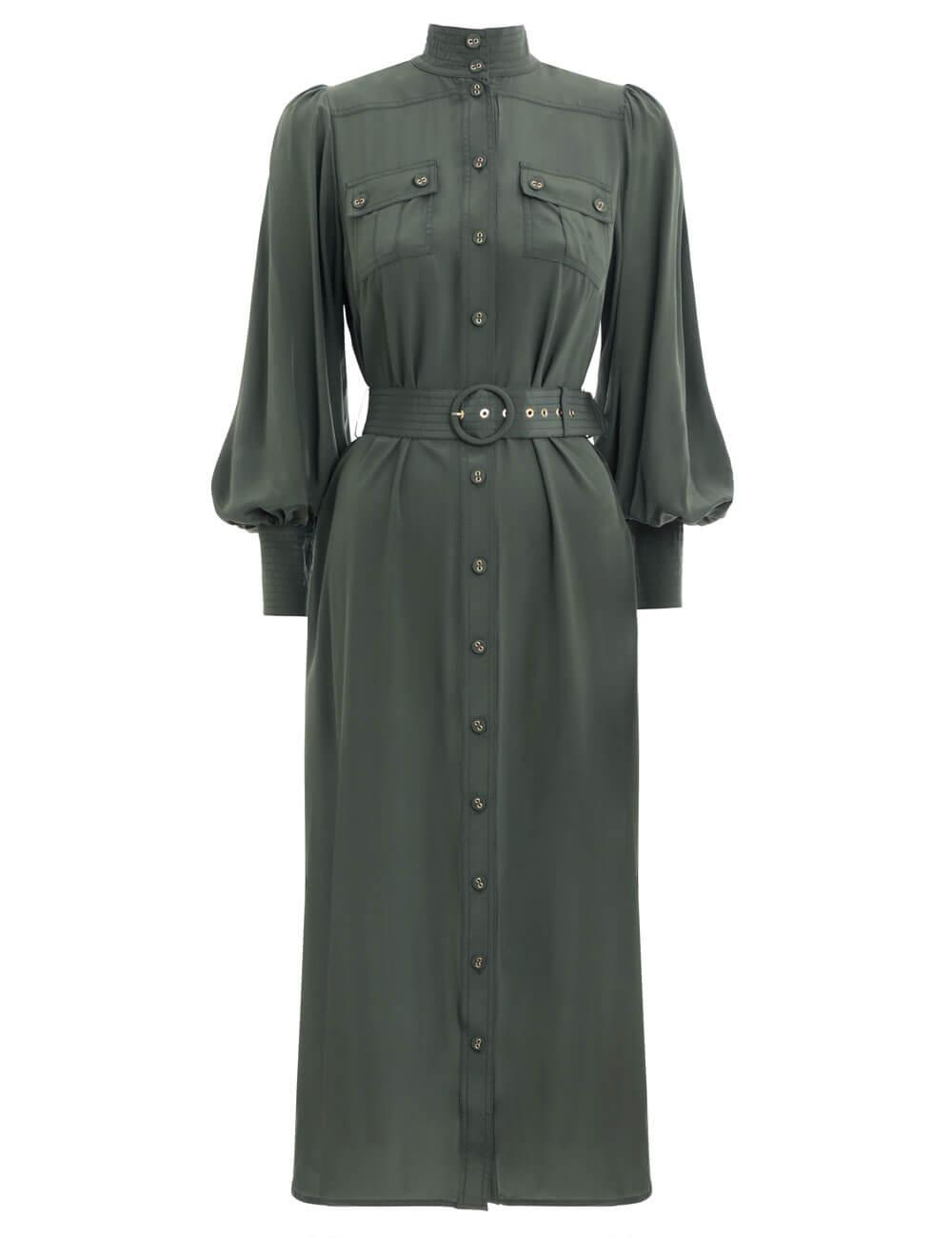 Espionage Silk Utility Dress