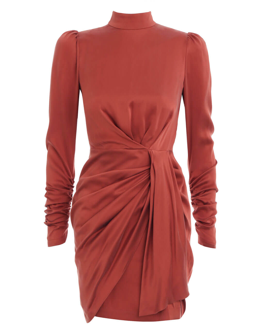 Espionage Silk Drape Dress