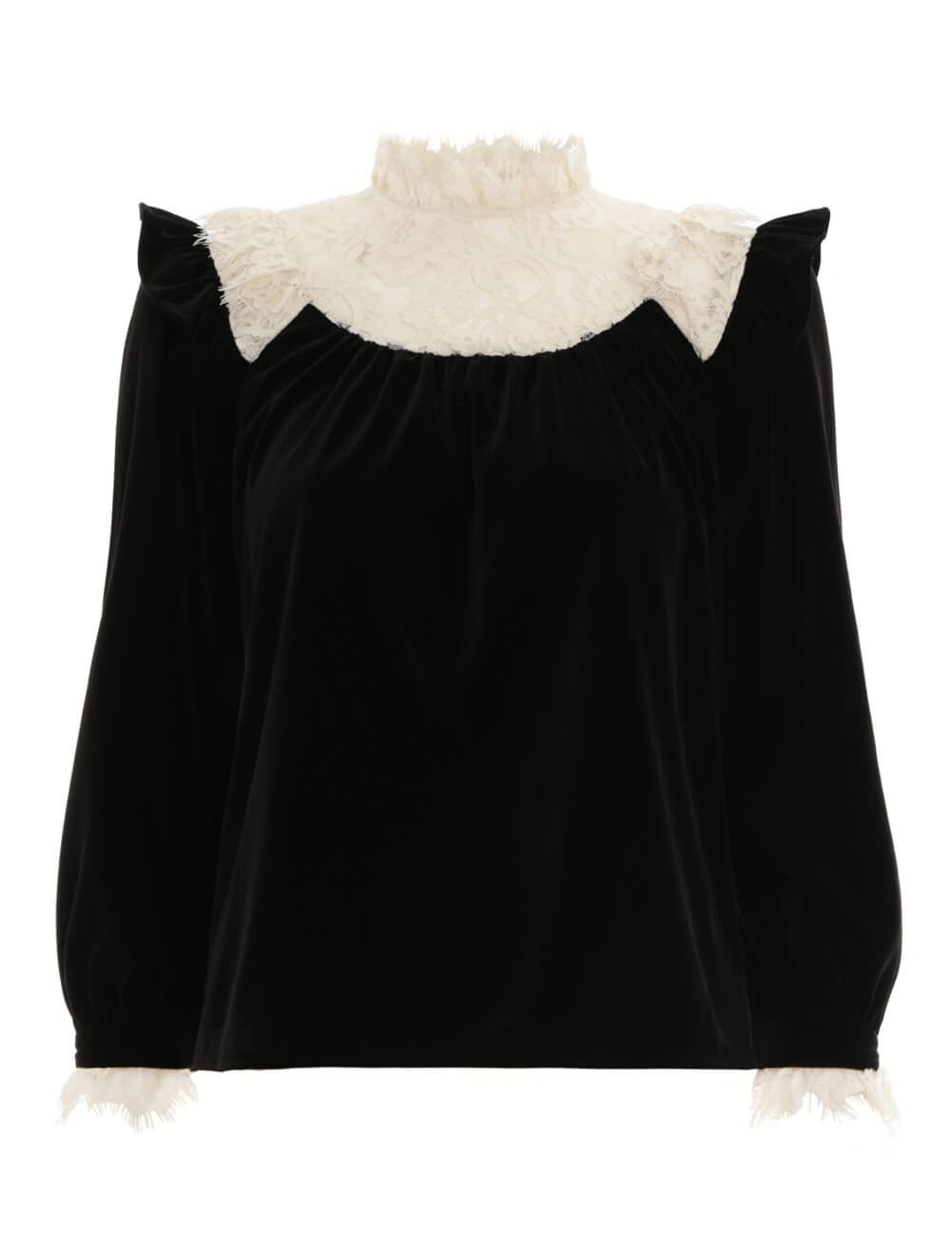 Resistance Velvet Lace Blouse