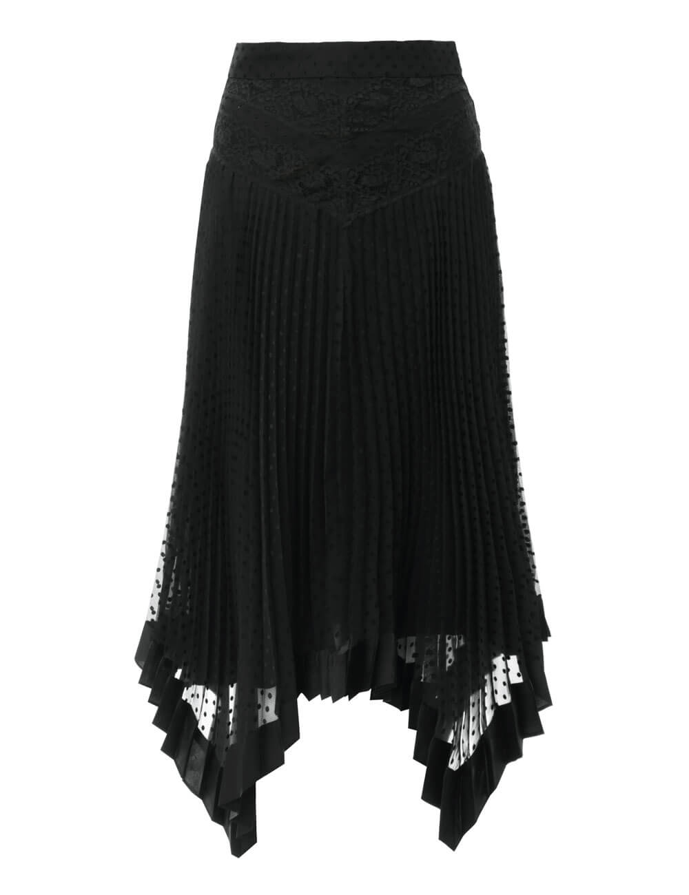 Espionage Lace Panelled Skirt