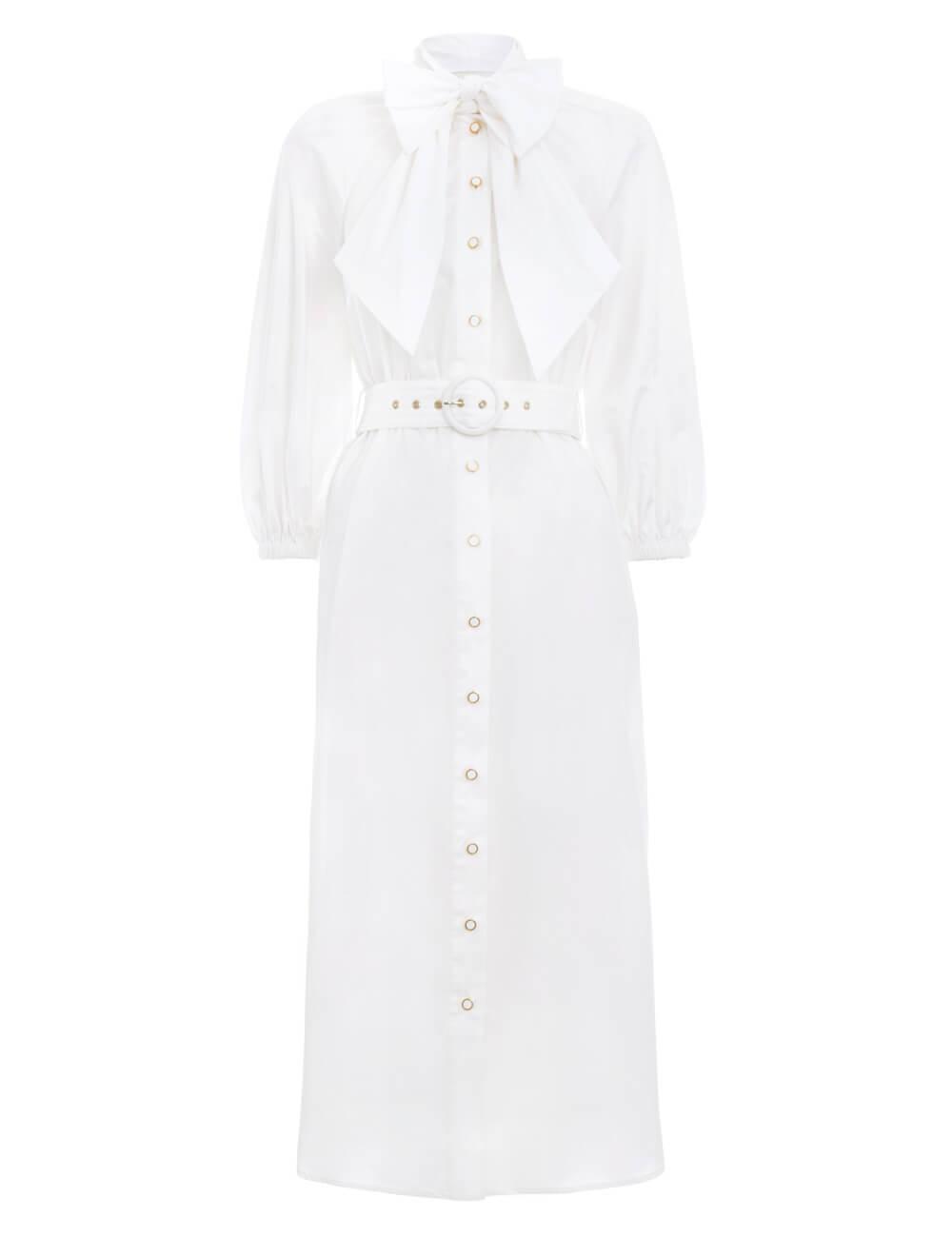 Espionage Bow Shirt Dress