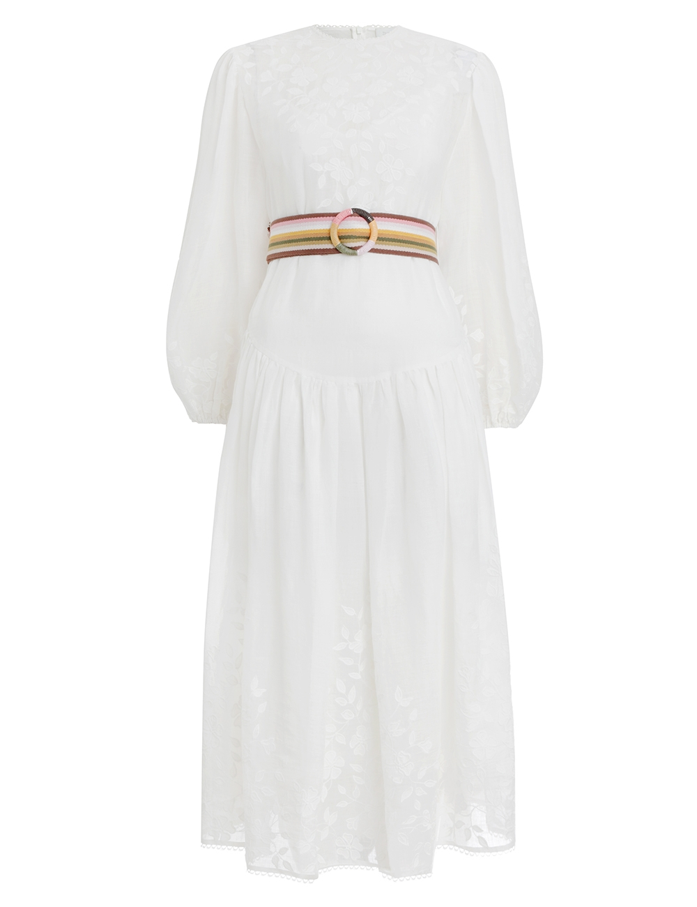 Zinnia Applique Long Dress