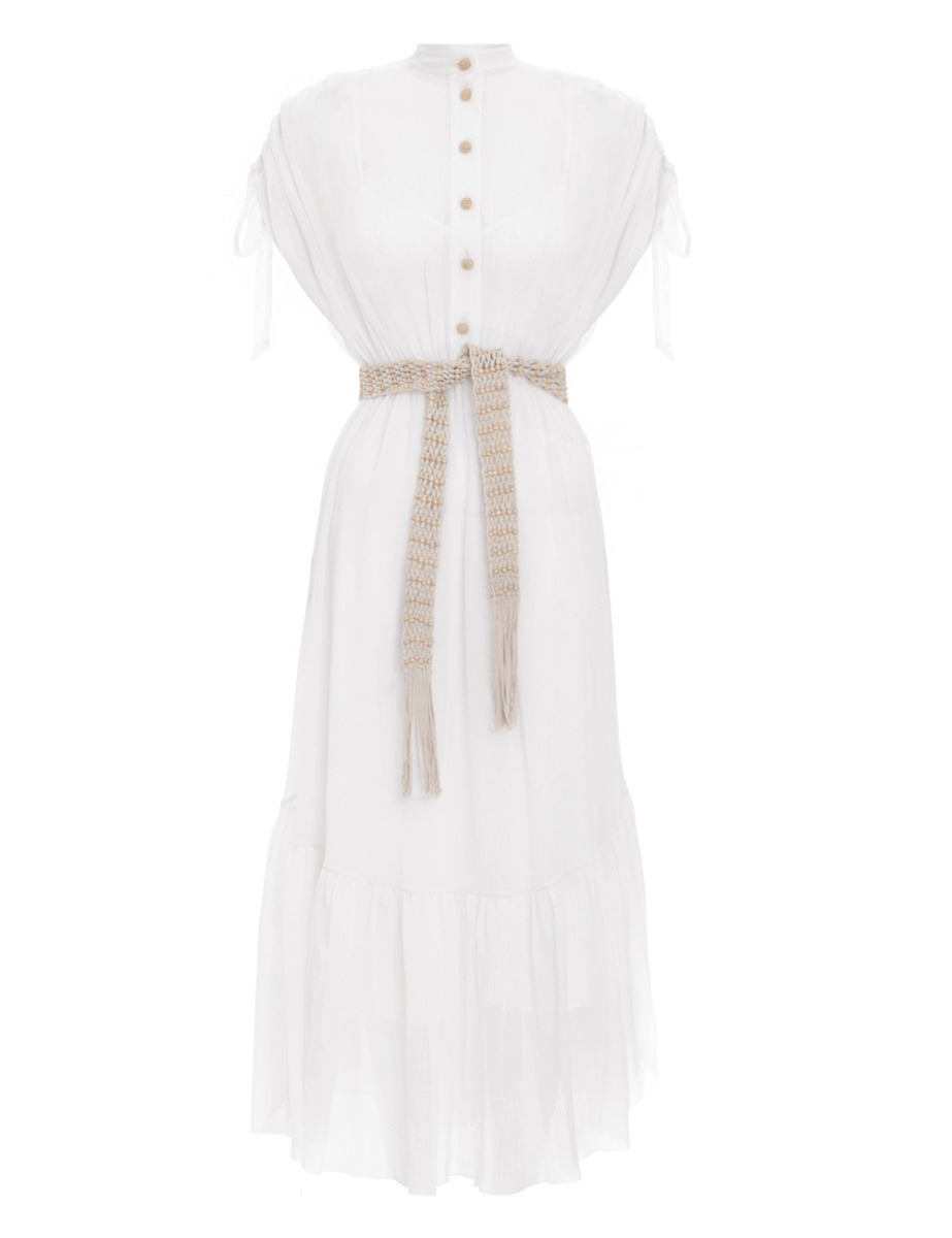 Freja Tie Shoulder Shirt Dress