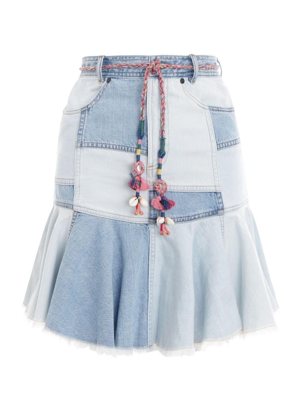Edie Patchwork Denim Skirt