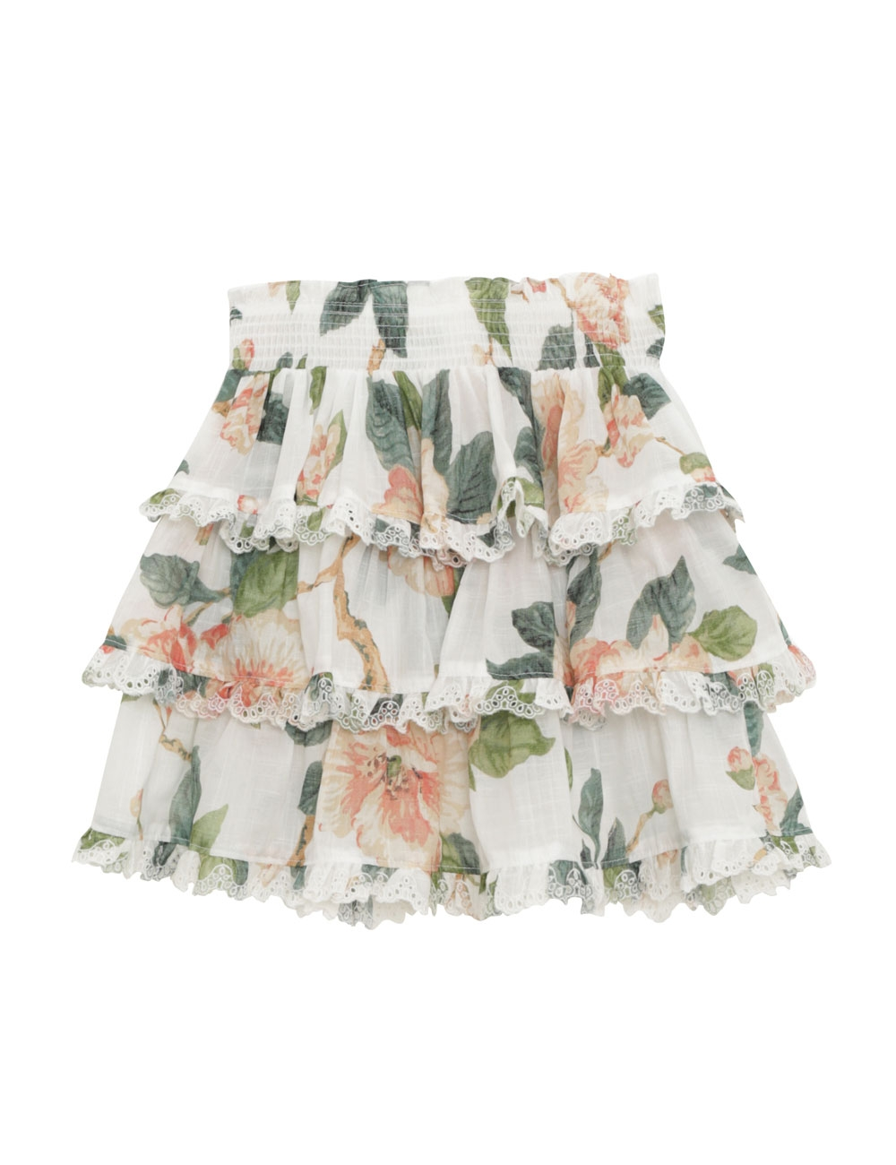 Kirra Tiered Trim Skirt