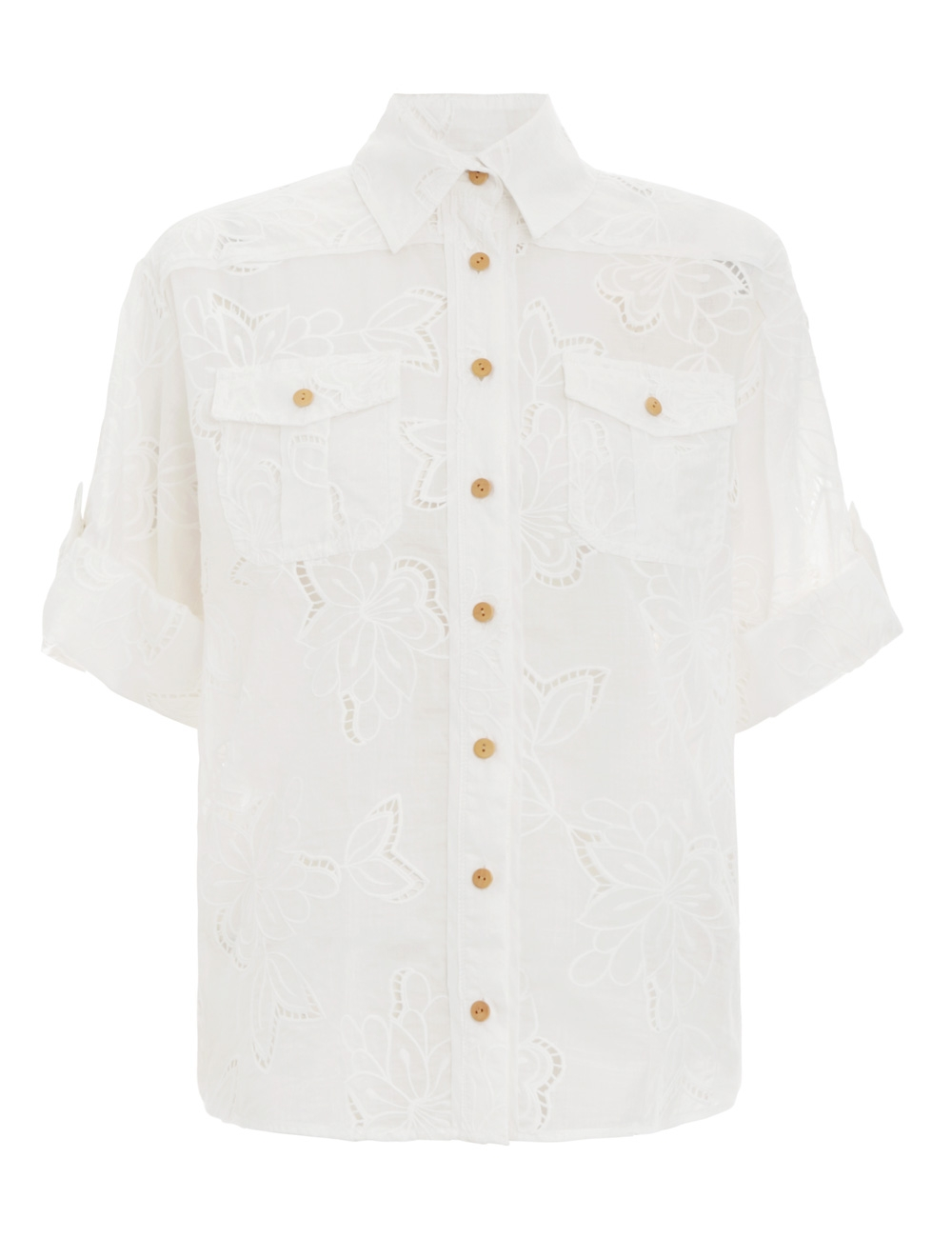 Kirra Embroidery Safari Shirt