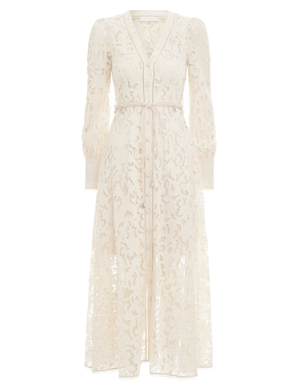 Freja Broderie Button Up Dress