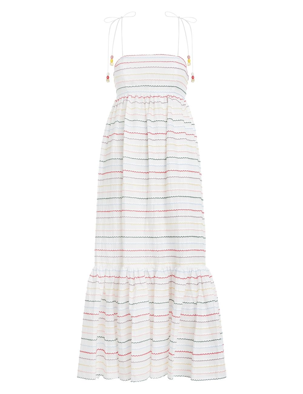 Zinnia Scallop Stripe Sundress