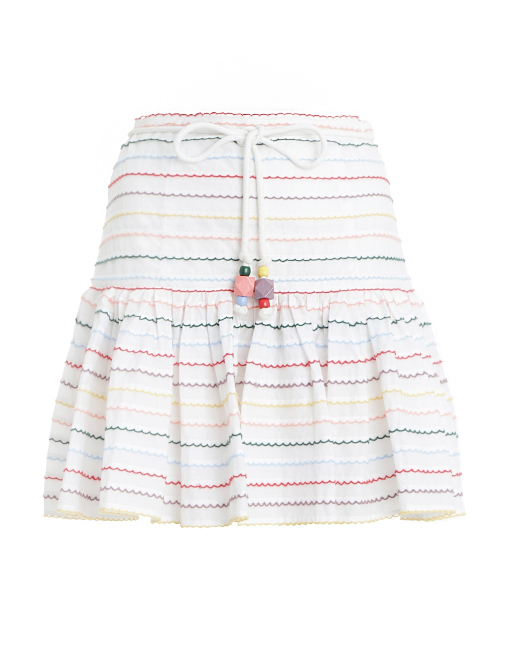 Zinnia Scallop Stripe Skirt