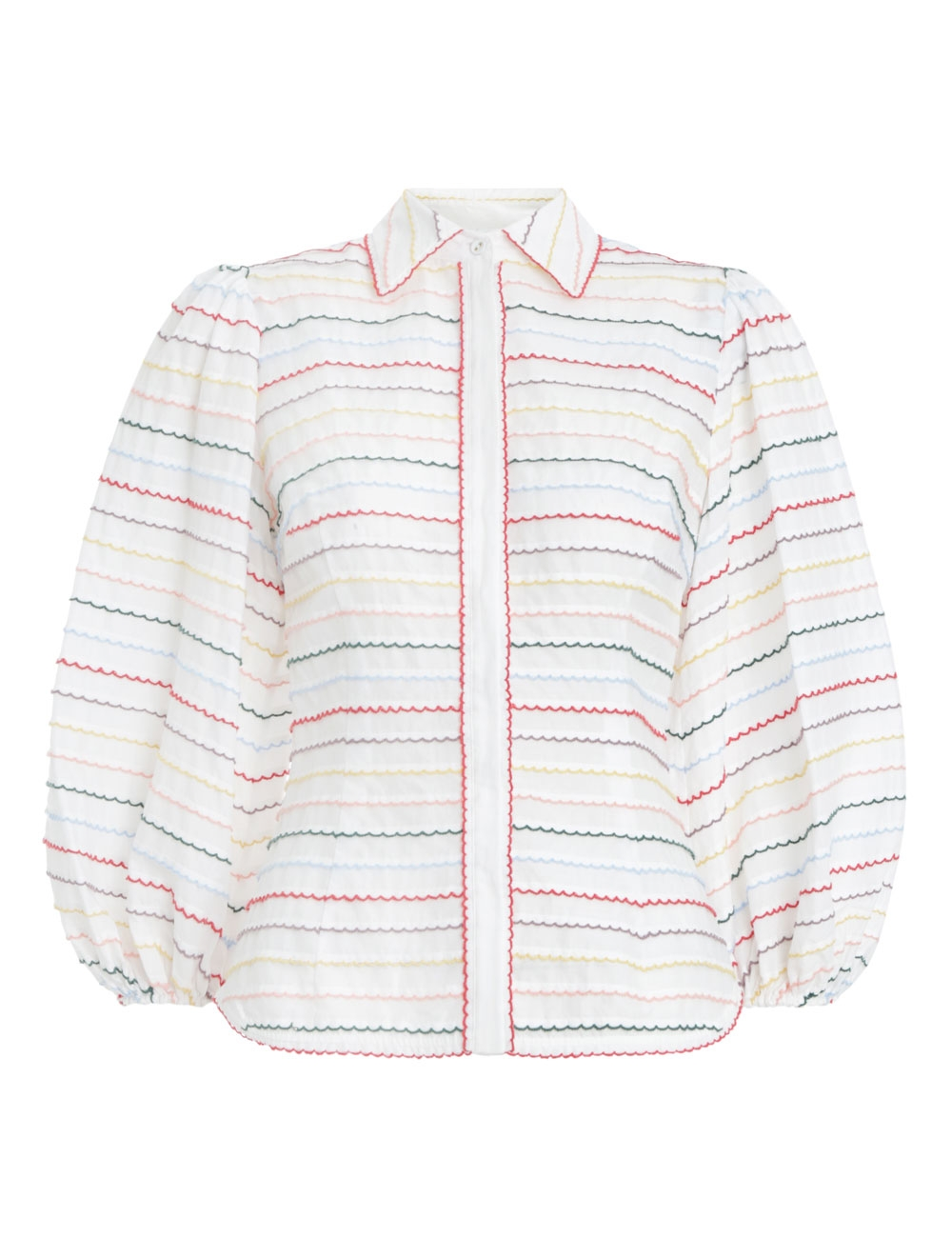 Zinnia Scallop Stripe Shirt