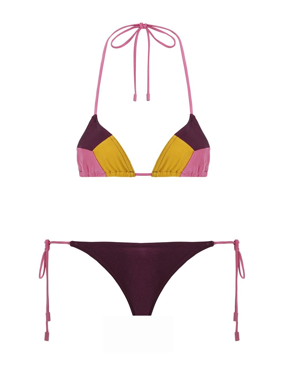 Edie Spliced Tri Bikini