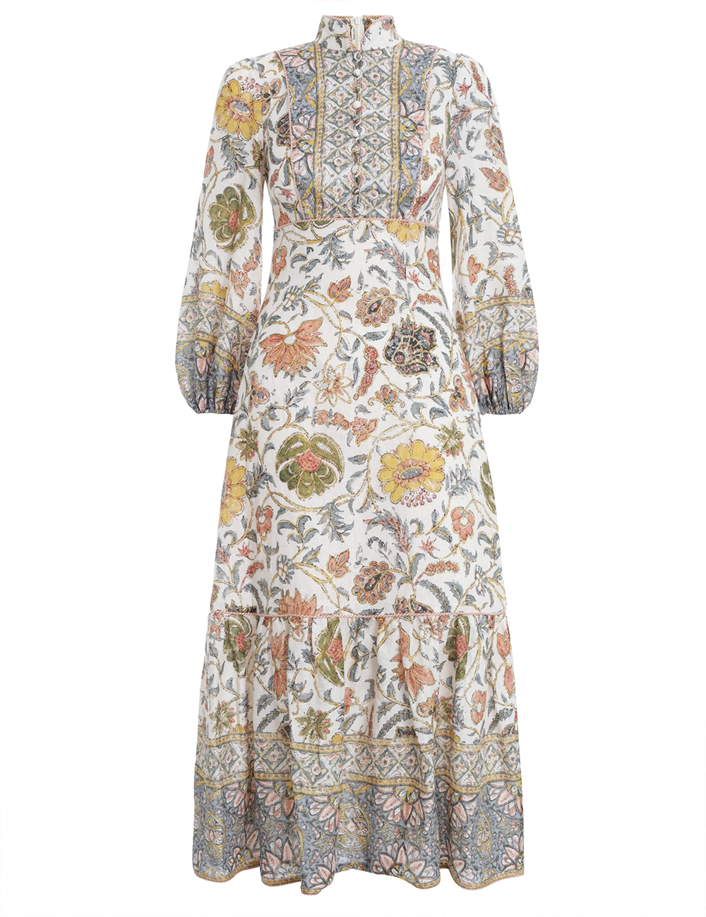 Edie Border High Neck Dress